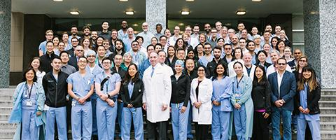Anesthesia Faculty, Residents, CRNAs Group Photo, Parnassus, 2018