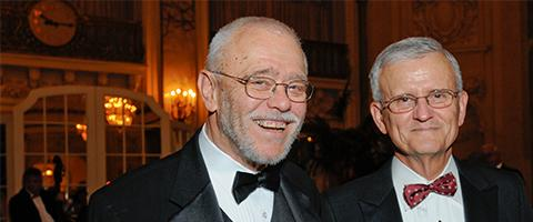 Drs. George Gregory and Ronald Miller at the UCSF Anesthesia and Perioperative 50th Anniversary Gala in 2008