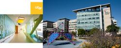 Interior and exterior of UCSF Benioff Children's Hospital San Francisco