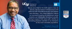 UCSF School of Medicine Dean Talmadge King and quote