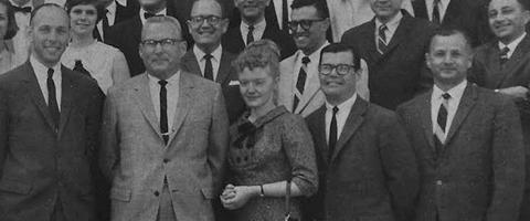 Dr. Helen F. Frevel pictured in 1965 group photo of UCSF Anesthesia faculty and trainees