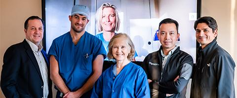 Pediatric Cardiac Faculty Members (L to R): Weston, Davies, Benkwitz, Rouine-Rapp, Nguyen, Kathiriya