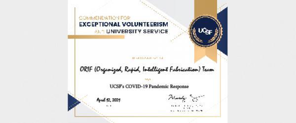 Dean's Commendation Certificate