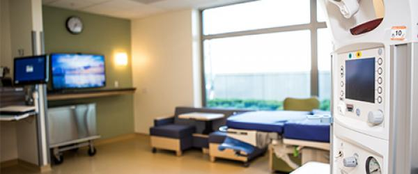 maternal hospital room at UCSF