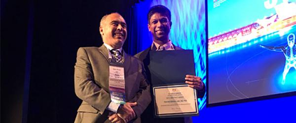 Drs. Marco Russo and Prasad Shirvalkar at the INS 14th World Congress