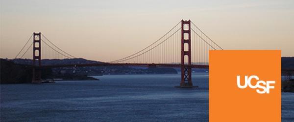 Golden Gate Bridge and UCSF orange logobox