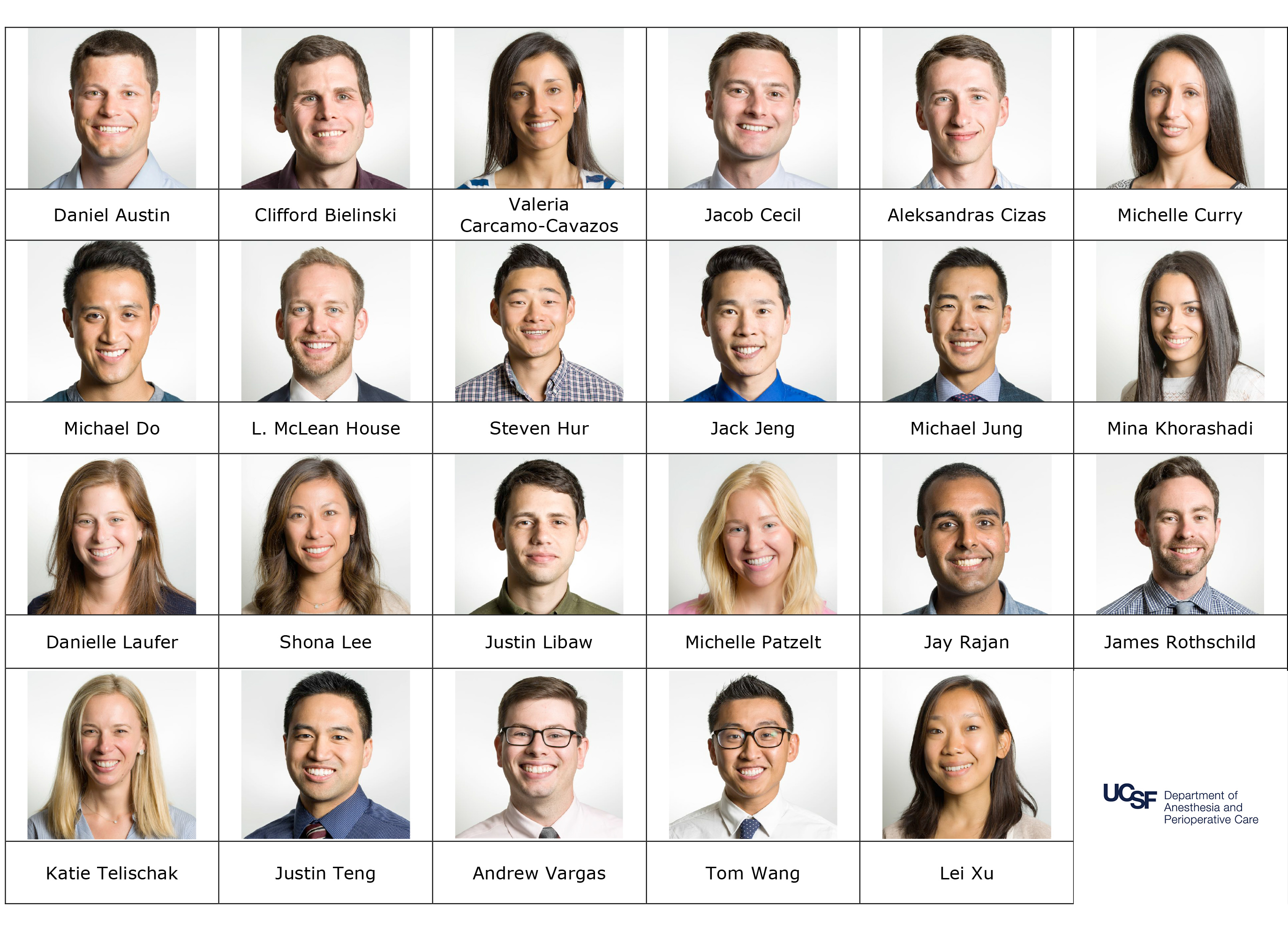 Current Residents | UCSF Dept of Anesthesia