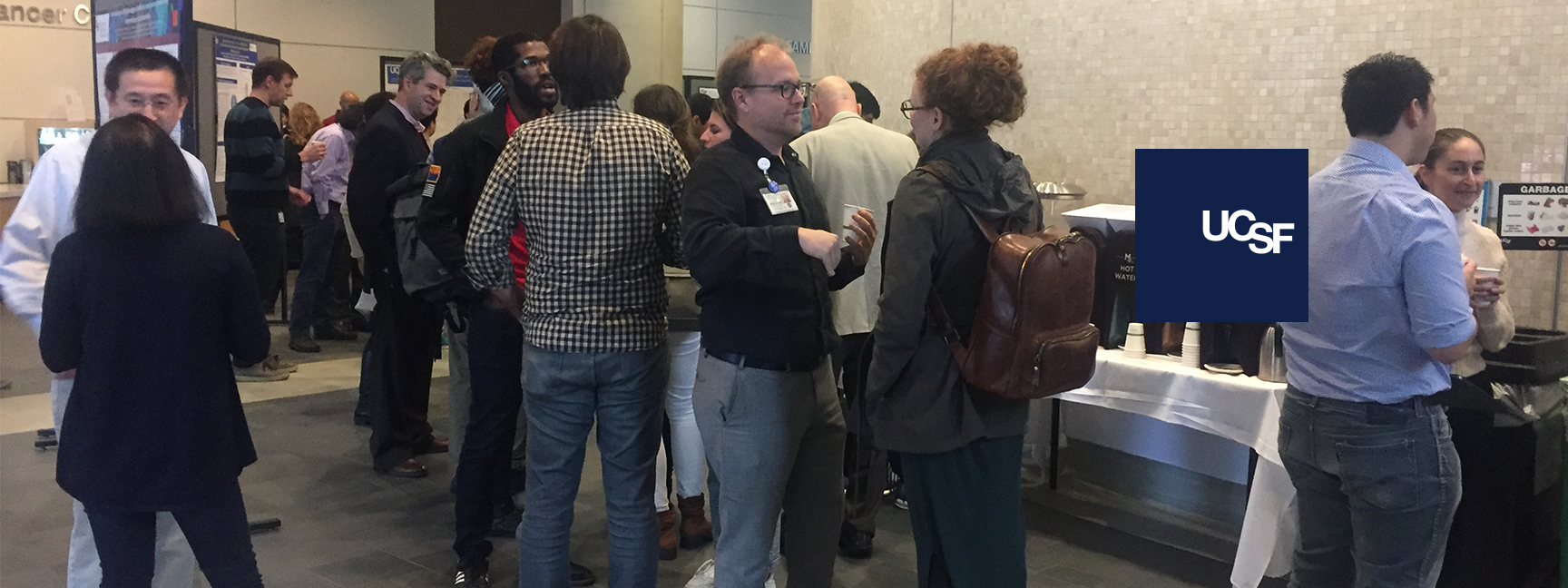 Attendees networking at the Pain and Addiction Research Retreat on December 4, 2019